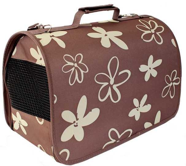Transportery, sprzęt podróżny - Hilton Torba transportowa brązowa w kwiaty