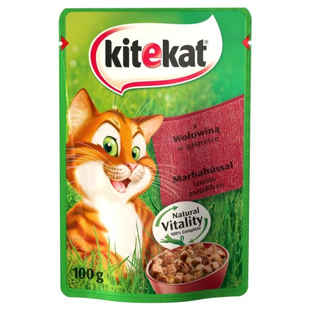 Karmy mokre dla kota - KiteKat w galaretce 100g x 12