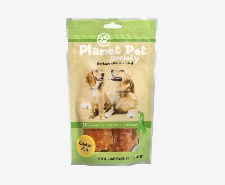 Przysmaki dla psa - Planet Pet Przysmak naturalny filet z kury 100g