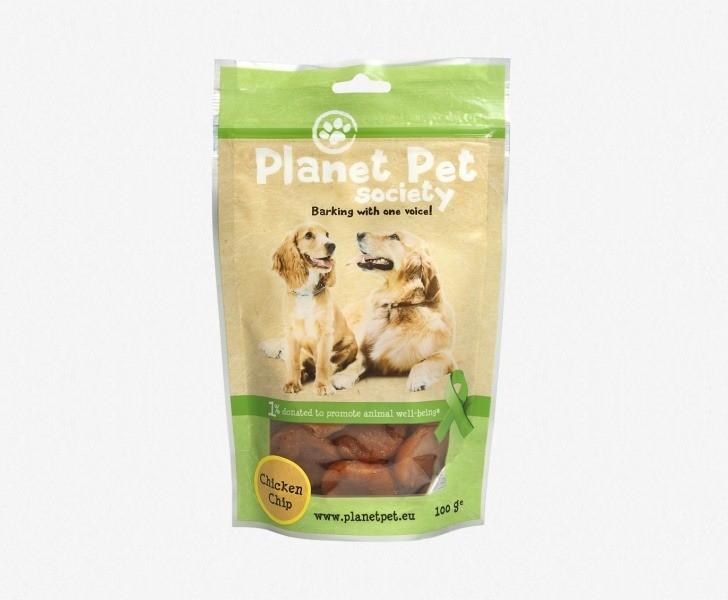 Przysmaki dla psa - Planet Pet Przysmak naturalny talarki z kurczaka 100g