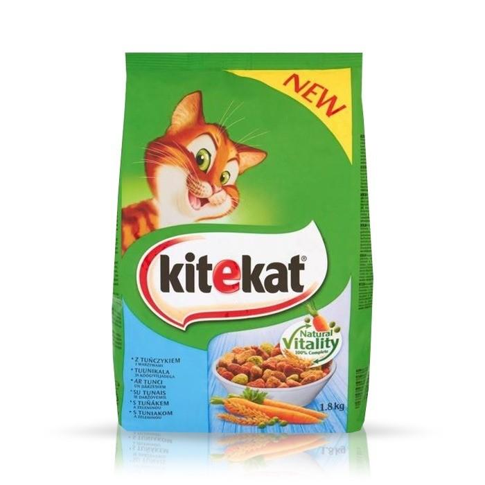Karmy suche dla kota - Kitekat z tuńczykiem i warzywami