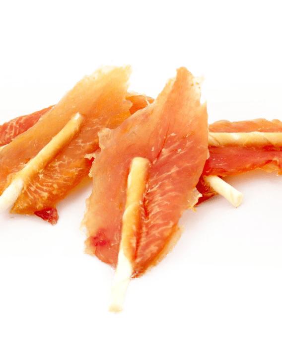 Przysmaki dla psa - ALDA płatki kurczaka na patyku 100g
