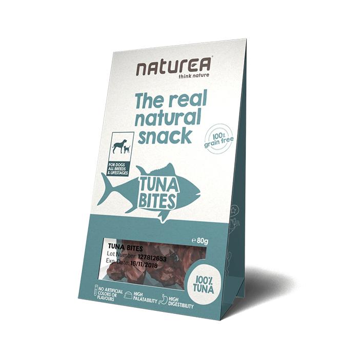 Przysmaki dla psa - Naturea Real Natural Snack bezzbożowy z tuńczykiem 80g