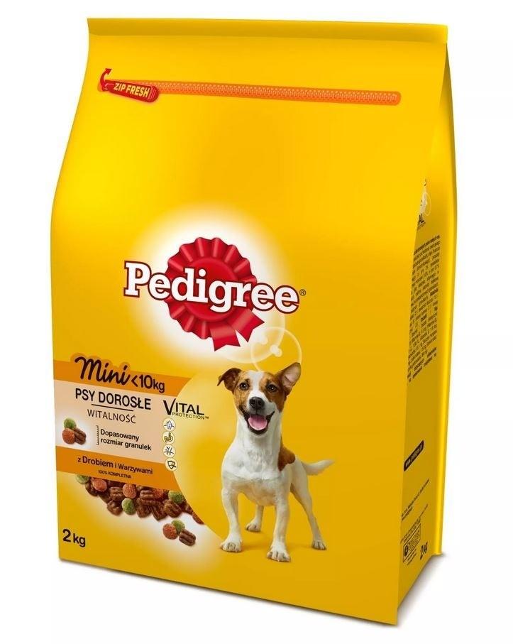 Karmy suche dla psa - Pedigree Adult Mini Drób z warzywami
