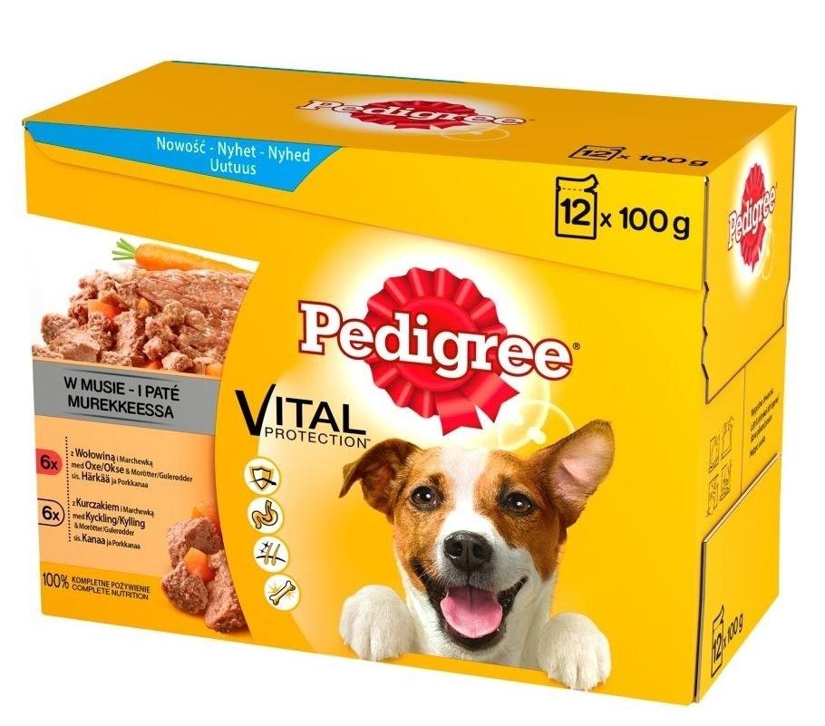 Karmy mokre dla psa - Pedigree Mus 100g x 24 (multipak x 2)