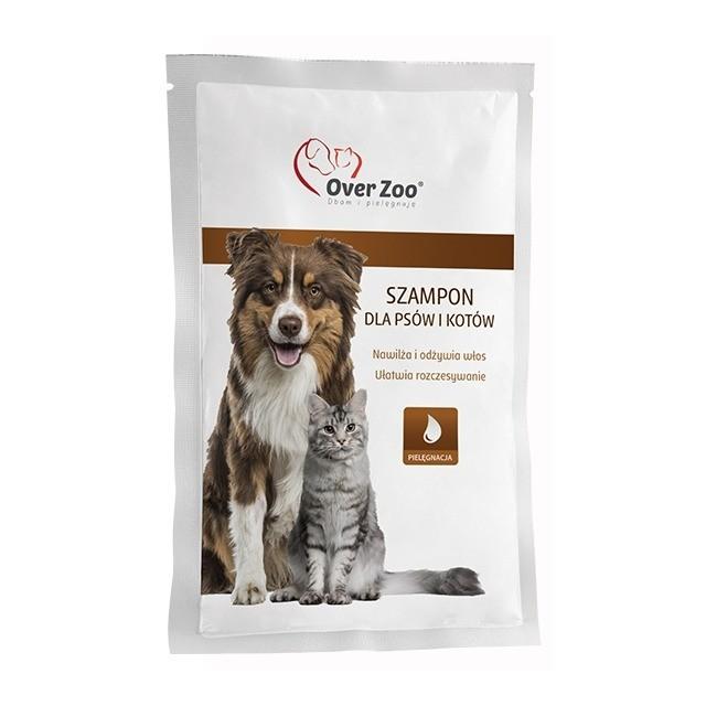 Higiena, pielęgnacja sierści - Over Zoo Szampon dla psów i kotów saszetka 20ml