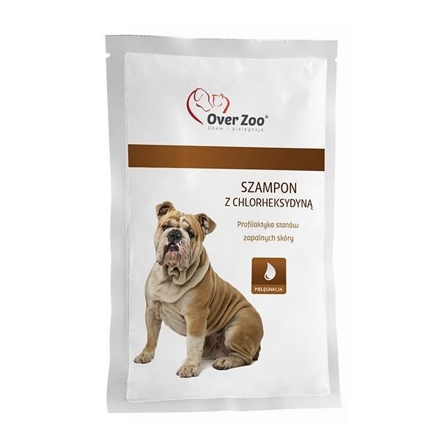 Higiena, pielęgnacja sierści - Over Zoo Szampon z chlorheksydyną saszetka 20ml