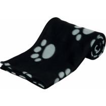 Trixie koc czarny w szare łapki duży 150x100cm