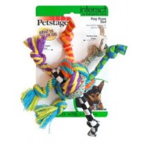 Petstages Piłka szmaciana ze sznurkami