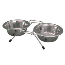 Yarro miski metalowe na stojaku 13,5cm