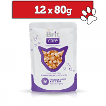 Brit Care Cat Pouch Kitten w sosie 80g x 12