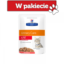Hill's Prescription Diet Feline c/d Urinary Care Stress z łososiem 85g