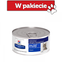 Hill's Prescription Diet Feline m/d Glucose/Weight Management z wieprzowiną 156g