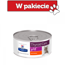 Hill's Prescription Diet Feline y/d Thyroid Care z kurczakiem 156g