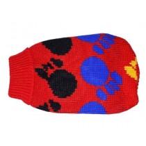 Doggy Fashion Golf czerwony ze wzorem