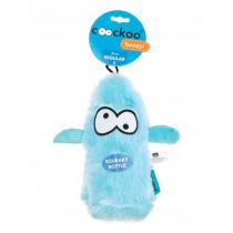 Coockoo Boozy piszcząca zabawka z butelką niebieska 25 x 10 x 8cm