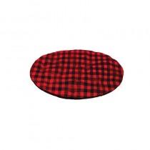 Chaba Poducha Owalna Standard czerwona krata