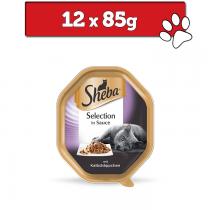 Sheba Selection w sosie tacka 85g x 12