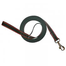 Chaba Smycz Treningowa taśma czarna z czerwonym 25mm/5m