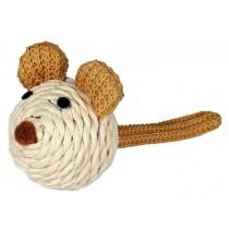 Trixie Mysz sizalowa z grzechotką 5cm