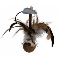 Trixie Piłka z piórami 15cm
