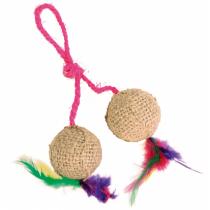 Trixie Piłki sizalowe z kociąmiętką 2szt. 4,5cm