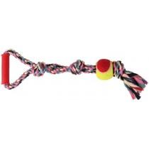 Trixie Sznur bawełniany z piłką tenisową 6cm x 50cm