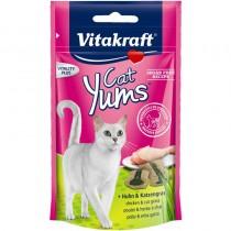 Vitakraft Kot Cat Yums kurczak z kocią trawą 40g