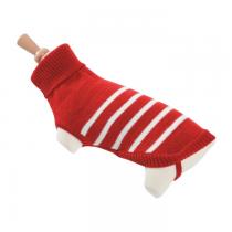 Zolux Sweterek z golfem w paski czerwony